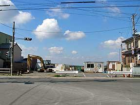 反公害闘争時の住居跡