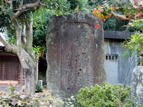藤川宿・芭蕉句碑