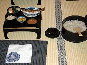 二川宿・旅籠屋の食事
