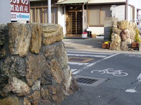 舞坂宿・厠見付石垣