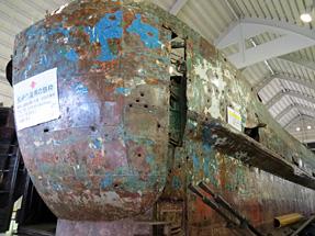 北朝鮮工作船・船尾