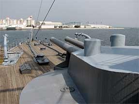 戦艦・三笠の主砲