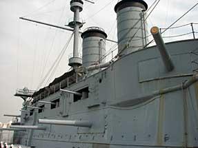 戦艦・三笠の副砲