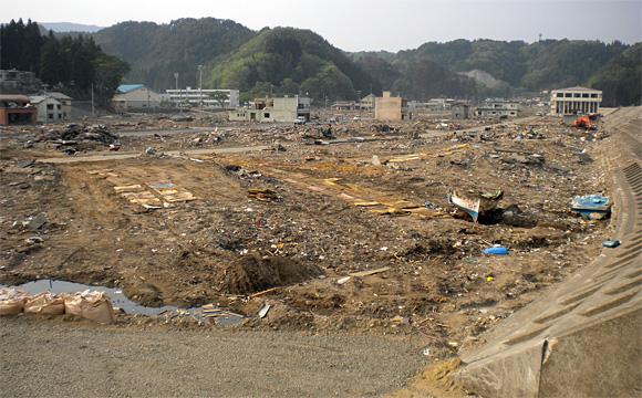 田老地区の津波被害