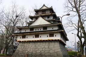 萩城の模型