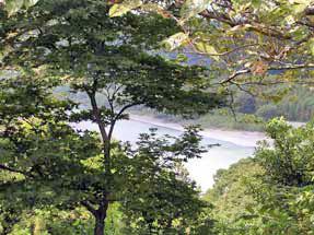 二俣城址・眼下に見える天竜川