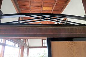 高知城・竹の節欄間