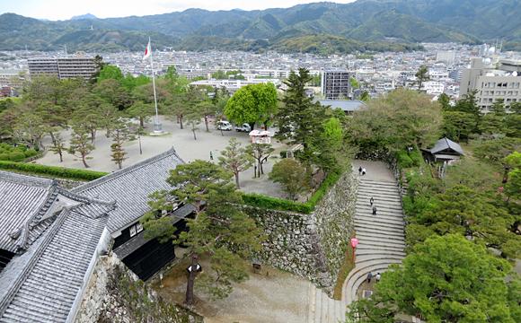 高知城・天主閣からの眺望