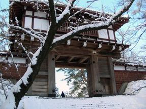 冬の久保田城