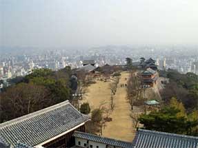 松山城・天守閣からの眺め