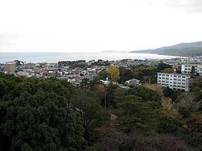 小田原城・天守閣からの眺め