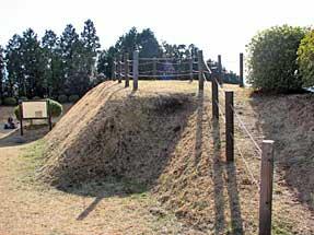 山中城跡・すり鉢曲輪見張台