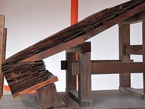 京都御所・桧皮葺屋根実物模型
