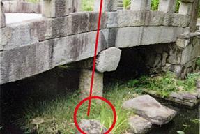 百々橋の礎石