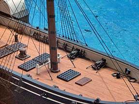 ペリー記念館にある黒船の模型