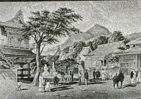 ペリー提督来航記念碑・ 称名寺の境内