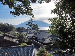 仙巌園・桜島遠望