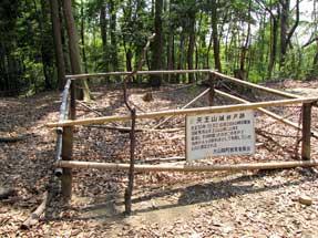 天王山城井戸跡