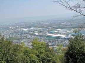 天王山・登山道からの景観