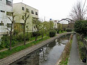 寺田屋の近くを流れる宇治川