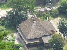 津和野城址から見た西周旧居