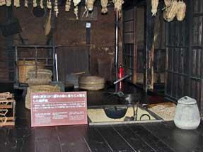 野口英世・生家・清作が大火傷をした囲炉裏