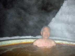 然別湖コタン・氷上露天風呂