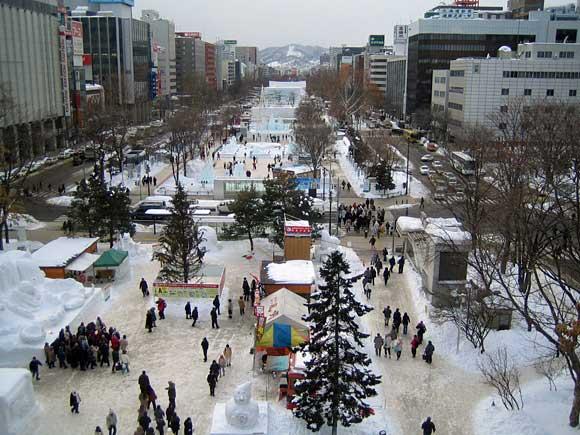 札幌雪祭り会場・大通公園