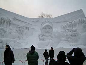 札幌雪祭り・大雪像「ドリーム藍ランド」