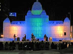 札幌雪祭り・大氷像「ロイヤル・エキシビジョン・ビル」