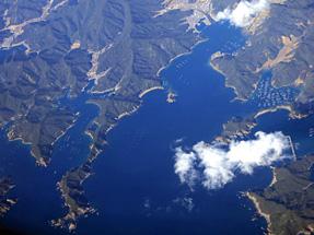 鹿児島空港への空路・紀伊半島上空