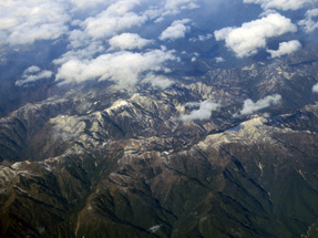 鹿児島空港への空路・紀伊山地上空