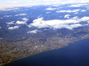 鹿児島空港への空路