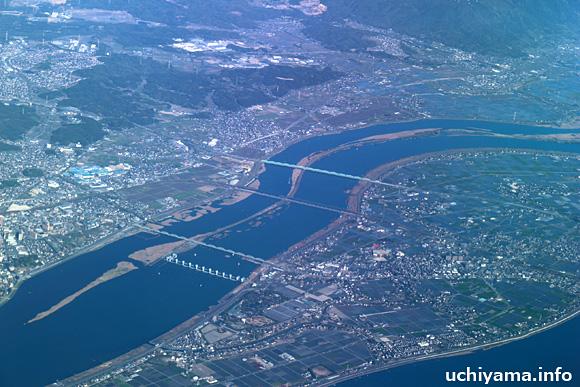 長良川上空