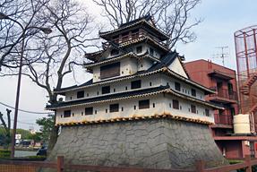 萩城天守復元模型