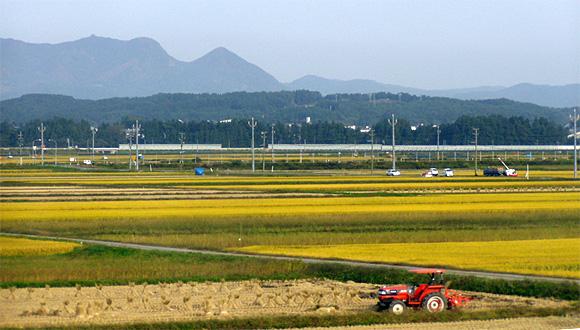 山形新幹線・車窓風景