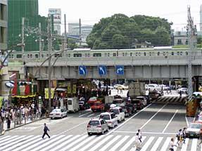 山手線・上野駅付近