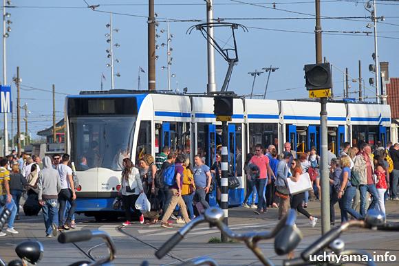 アムステルダムの路面電車