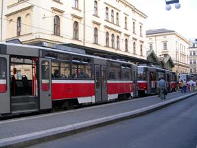 プラハの路面電車